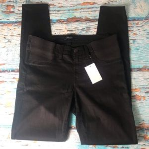 J Brand Black Side Panel Mama J Super Skinny